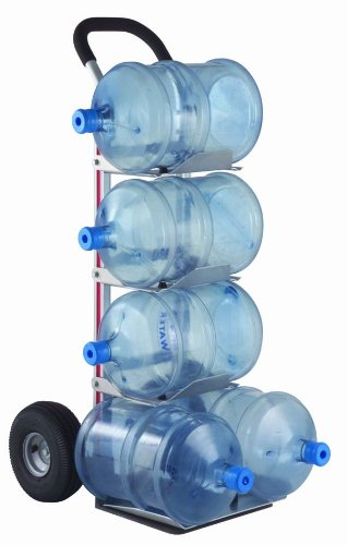 Magline-HBK128HM4-Aluminum-Bottle-Water-Hand-Truck-Loop-Handle-Pneumatic-Wheels-Silver-500-lbs-Load-Capacity-55-Height-11-Width-x-20-Depth-0
