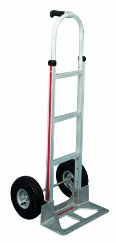 Magline-HMK117UA4-Aluminum-Hand-Truck-Straight-Loop-Handle-Pneumatic-Wheels-500lbs-Capacity-0