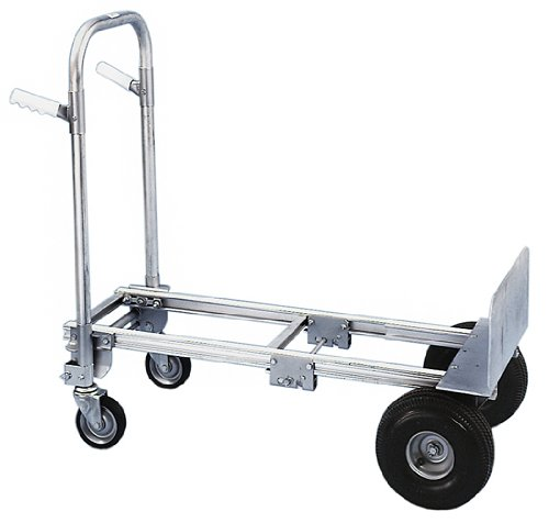 Milwaukee-Hand-Trucks-45136-Modular-Aluminum-Convertible-Truck-with-Twin-Pin-Handle-and-10-Inch-Pneumatic-Tires-0-0
