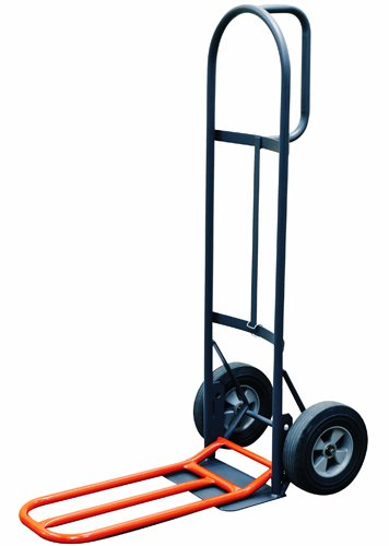 Milwaukee-Hand-Trucks-47515S-D-Handle-Truck-with-10-Inch-Solid-Puncture-Proof-Tires-and-Nose-Plate-Extension-0-0