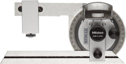 Mitutoyo-187-904-Universal-Bevel-Protractor-6-Blade-5-minute-Vernier-Resolution-0