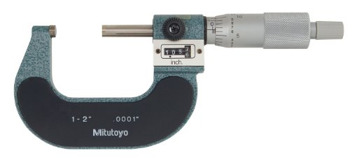 Mitutoyo-193-212-Digit-Outside-Micrometer-Friction-Thimble-1-2-Range-00001-Graduation-00001-Accuracy-0