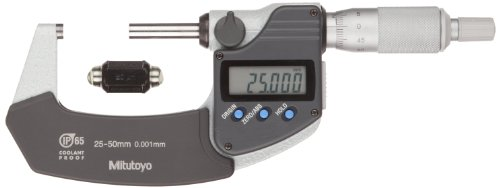 Mitutoyo-293-231-30-LCD-Coolant-Proof-Micrometer-Ratchet-Stop-SPC-Output-With-Inspection-Certificate-0001mm-Resolution-25-50mm-Range-0