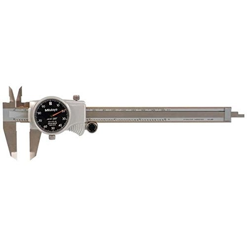 Mitutoyo-505-675-56-Dial-Caliper-Stainless-Steel-Black-Face-0-6-Range-0001-Accuracy-0001-Resolution-0