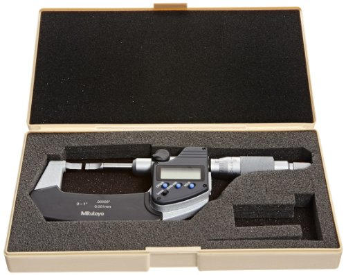 Mitutoyo-LCD-Blade-Micrometer-Ratchet-Stop-InchMetric-0-0