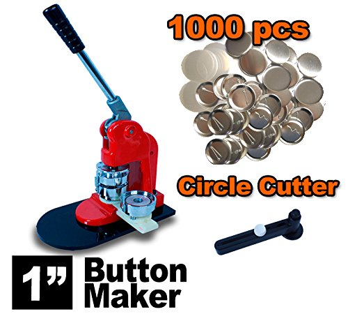 New-Deluxe-1-Press-Button-Badge-Maker-Machine-Free-1000-Parts-Circle-Cutter-0