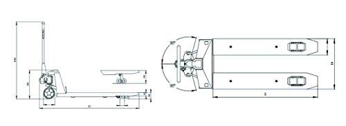 New-Prime-Scales-PS-5000PJ-Pallet-Truck-Scale-Pallet-Jack-Scale-5000x1lb-Low-Profile-0-0