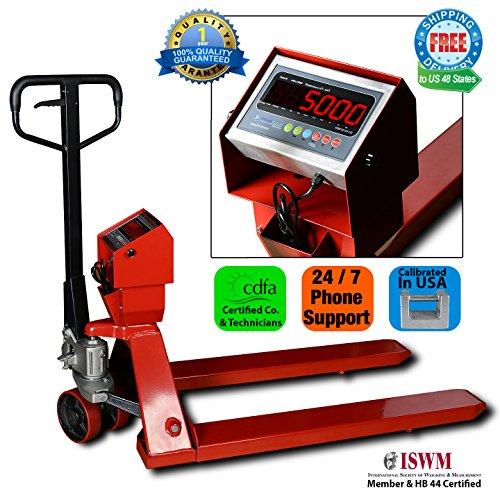 New-Prime-Scales-PS-5000PJ-Pallet-Truck-Scale-Pallet-Jack-Scale-5000x1lb-Low-Profile-0