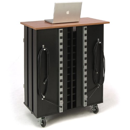 Oklahoma-Sound-LCSC-Laptop-Charging-and-Storage-Cart-37-Length-x-19-12-Width-x-43-14-Height-Wild-CherryBlack-0-0