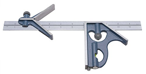 PEC-Tools-7122-012-4R-Combination-Square-12-3-Piece-Set-no-protractor-head-reads-32nds-64ths-8ths-16ths-0