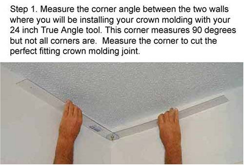 pkg 5 deluxe crown molding trim kit with crown molding template