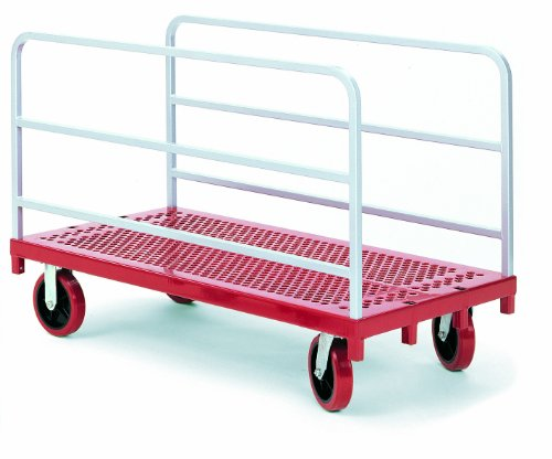 Raymond-3901-Steel-Heavy-Duty-Panel-and-Sheet-Mover-with-2-Uprights-and-8-x-2-Quiet-Poly-Caster-3200-lbs-Capacity-54-Length-x-30-Width-0
