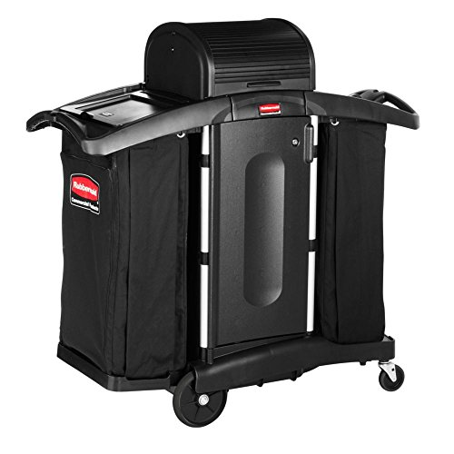 Rubbermaid-Commercial-Executive-Series-FG9T7800BLA-High-Security-Housekeeping-Cart-Black-0-0