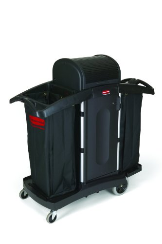 Rubbermaid-Commercial-Executive-Series-FG9T7800BLA-High-Security-Housekeeping-Cart-Black-0