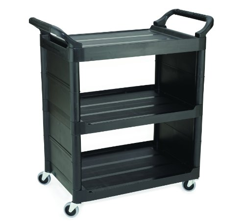 Rubbermaid-Commercial-FG342100BLA-Utility-Cart-End-Panels-and-3-inch-Swivel-Casters-Black-0