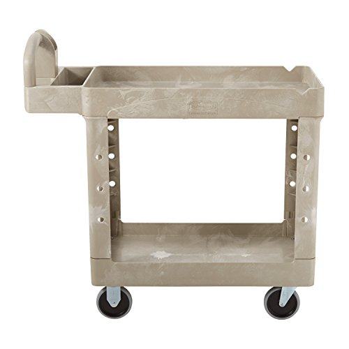 Rubbermaid-Commercial-FG450088BEIG-Heavy-Duty-Service-Cart-with-Lipped-Shelves-Small-Beige-0-0
