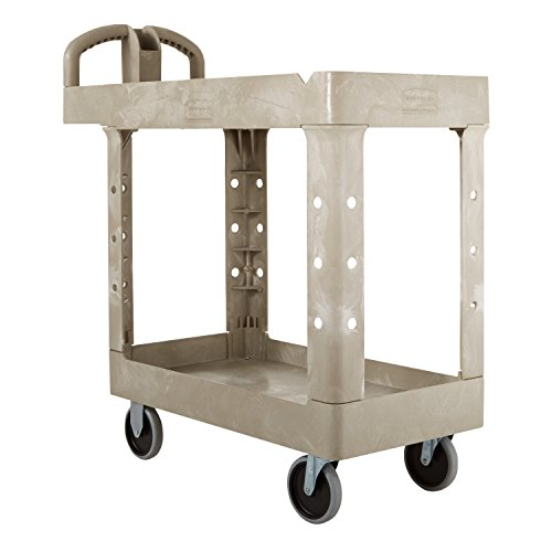 Rubbermaid-Commercial-FG450088BEIG-Heavy-Duty-Service-Cart-with-Lipped-Shelves-Small-Beige-0-1