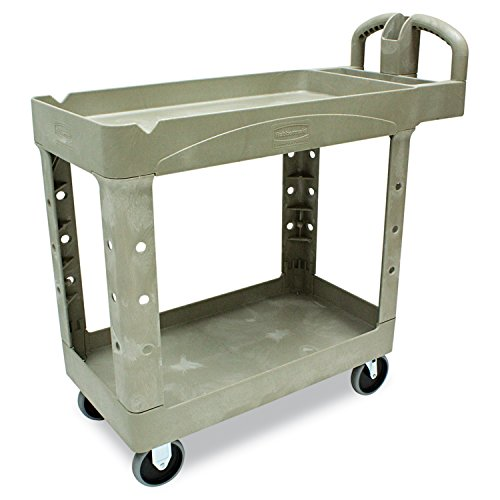 Rubbermaid-Commercial-FG450088BEIG-Heavy-Duty-Service-Cart-with-Lipped-Shelves-Small-Beige-0