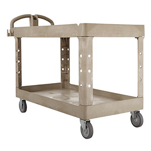Rubbermaid-Commercial-FG454600BEIG-Heavy-Duty-Utility-Cart-Lipped-Shelves-Large-Beige-0-0
