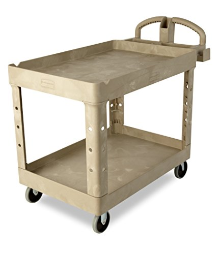 Rubbermaid-Commercial-FG454600BEIG-Heavy-Duty-Utility-Cart-Lipped-Shelves-Large-Beige-0