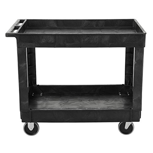 Rubbermaid-Commercial-Utility-Cart-Lipped-Shelves-Medium-Black-4-Non-Marking-Swivel-Casters-300-lb-Capacity-FG9T6700BLA-0-0