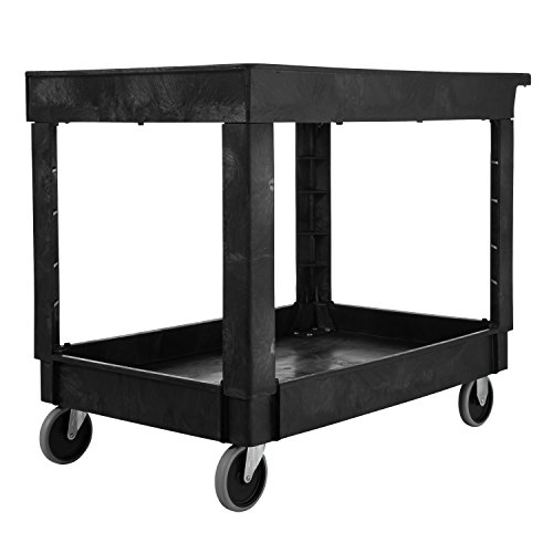 Rubbermaid-Commercial-Utility-Cart-Lipped-Shelves-Medium-Black-4-Non-Marking-Swivel-Casters-300-lb-Capacity-FG9T6700BLA-0