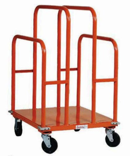 SPG-UC2630-L1-GillisJarke-Panel-and-Lumber-Cart-Welded-Steel-1200-lbs-Capacity-30-Length-26-Width-44-34-Height-5-2-Swivel2-Rigid-Polypropylene-Wheels-0