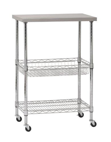 Sandusky-MKTSS241440-Stainless-Steel-Top-Wire-Cart-24-Length-x-14-Width-x-40-Height-0