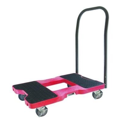 Snap-Loc-AM-1500PTR319-PU-High-Density-Polyethylene-E-Track-Platform-Truck-1500-lbs-Capacity-33-12-Length-x-21-Width-x-39-Height-Red-0