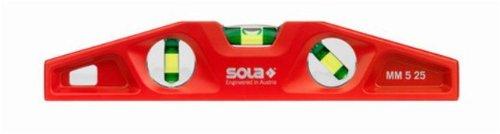 Sola-MM-5-25-Cast-Aluminum-Magnetic-Torpedo-Level-Red-0
