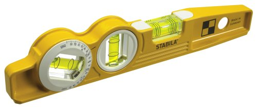 Stabila-25360-Die-Cast-Magnetic-Torpedo-with-360-degree-vial-and-V-groove-frame-0