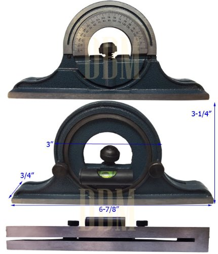 Stainless-Steel-4-PC-Combination-Square-Head-12-4R-Center-Protractor-Blade-0-0