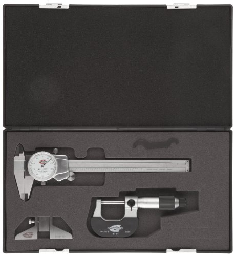 Standard-Gage-00524104-Value-Micrometer-and-Caliper-Set-White-Face-0-0