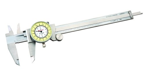 Starrett-1202F-6-Dial-Caliper-Stainless-Steel-White-Face-0-6-Range-0001-Accuracy-0010-Resolution-Meets-Specifications-0