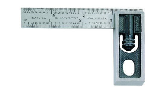 Starrett-13MA-Millimeter-Reading-Double-Square-With-Graduated-Blade-100mm-Size-0