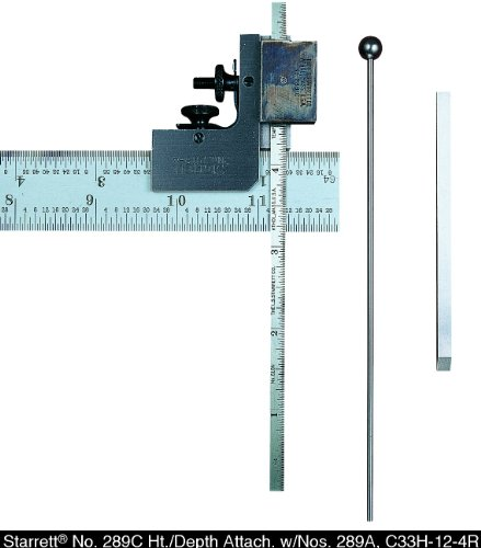 Starrett-289C-Height-And-Depth-Gauge-Set-For-Combination-Squares-0