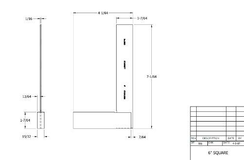 Starrett-3020-6-Toolmakers-Grade-Stainless-Steel-Square-3-2932-Beam-Length-5-2932-Blade-Length-0-0