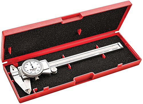 Starrett-3202-6-Dial-Caliper-Hardened-Stainless-Steel-0-6-Range-0001-Graduation-White-0