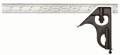 Starrett-C33H-12-4R-12-Inch-Combination-Square-with-Square-Head-Only-0