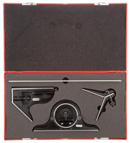 Starrett-C434-12-4RWSLC-Forged-Hardened-Square-Center-And-Reversible-Protractor-Heads-With-Blade-Combination-Set-Smooth-Black-Finish-4R-Graduation-12-Size-0-1