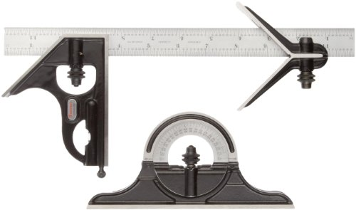 Starrett-C434-12-4RWSLC-Forged-Hardened-Square-Center-And-Reversible-Protractor-Heads-With-Blade-Combination-Set-Smooth-Black-Finish-4R-Graduation-12-Size-0