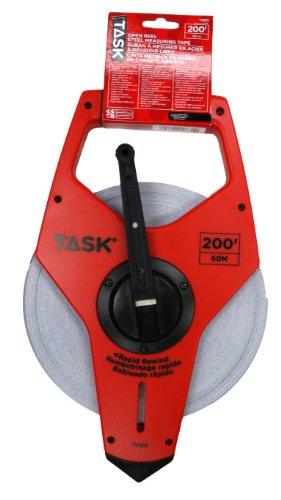 Task-Tools-TS831-200-Feet-Open-Reel-Fiberglass-Tape-Measure-Nylon-Coated-with-3X-Gear-Drive-0