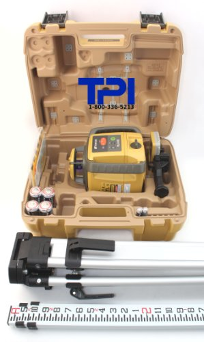 Topcon-RL-H4C-Rotary-Laser-Kit-Includes-RL-H4C-Self-Leveling-Rotary-Laser-Aluminum-Flat-Head-Tripod-and-8ft-Aluminum-Grade-Rod-0-0