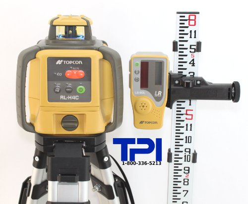 Topcon-RL-H4C-Rotary-Laser-Kit-Includes-RL-H4C-Self-Leveling-Rotary-Laser-Aluminum-Flat-Head-Tripod-and-8ft-Aluminum-Grade-Rod-0
