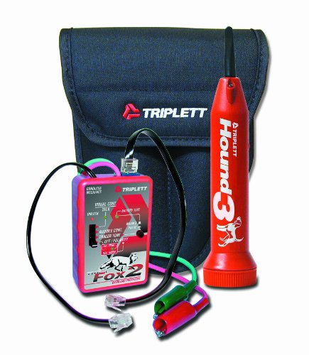 Triplett-Fox-Hound-3399-Premium-Wire-and-Cable-Tracing-Kit-with-Tone-Generator-and-Probe-with-Adjustable-Sensitivity-0-0