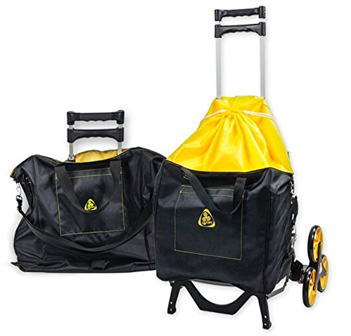 UpCart-with-Bag-Bundle-All-Terrain-Stair-Climbing-Folding-Cart-Moves-up-to-100-pounds-0