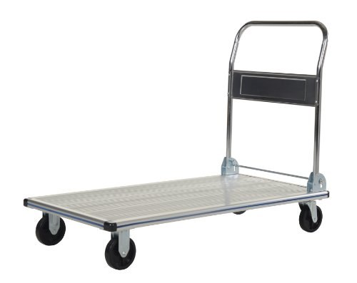 Vestil-AFT-48-NM-Aluminum-Folding-Platform-Truck-with-Single-Handle-and-5-Non-Marking-Polyurethane-Casters-600-lbs-Capacity-48-Length-x-24-Width-x-8-38-Height-0-1