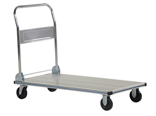 Vestil-AFT-48-NM-Aluminum-Folding-Platform-Truck-with-Single-Handle-and-5-Non-Marking-Polyurethane-Casters-600-lbs-Capacity-48-Length-x-24-Width-x-8-38-Height-0