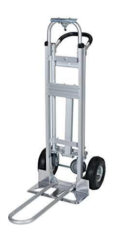 Vestil-ALUM-CONV-Aluminum-Convertible-Hand-Truck-with-Dual-Handle-Rubber-Wheels-500-lb-Load-Capacity-52-Height-x-20-12-Width-x-18-78-Depth-0-1