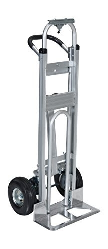 Vestil-ALUM-CONV-Aluminum-Convertible-Hand-Truck-with-Dual-Handle-Rubber-Wheels-500-lb-Load-Capacity-52-Height-x-20-12-Width-x-18-78-Depth-0